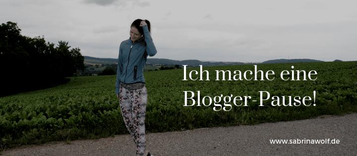 Blogger-Pause