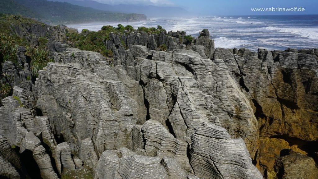 Pancake Rocks - meine Reise auf die Südinsel Neuseelands