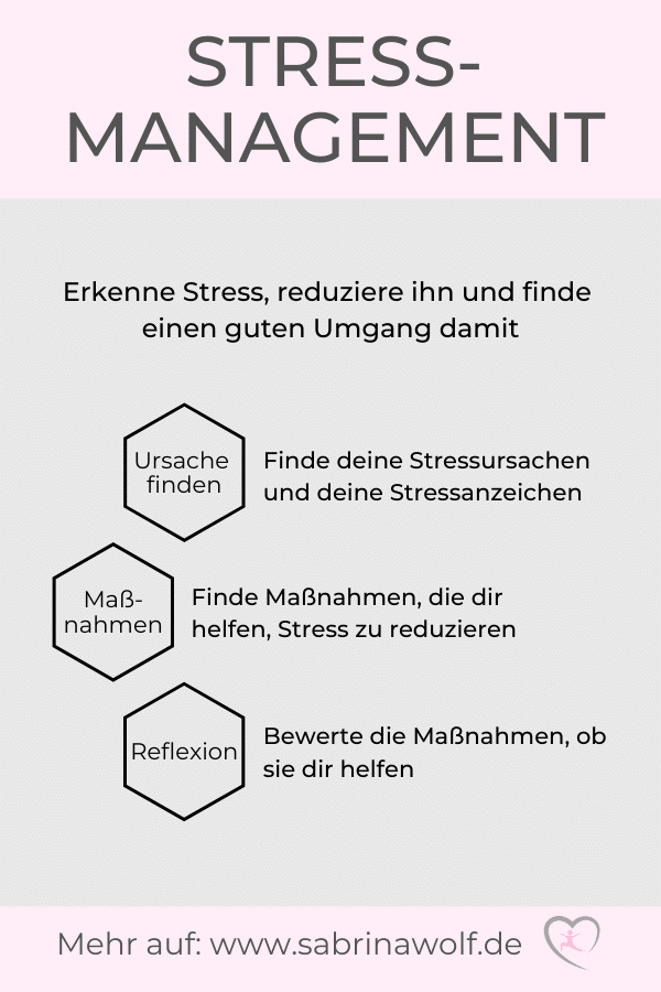 Stressmanagement Infografik
