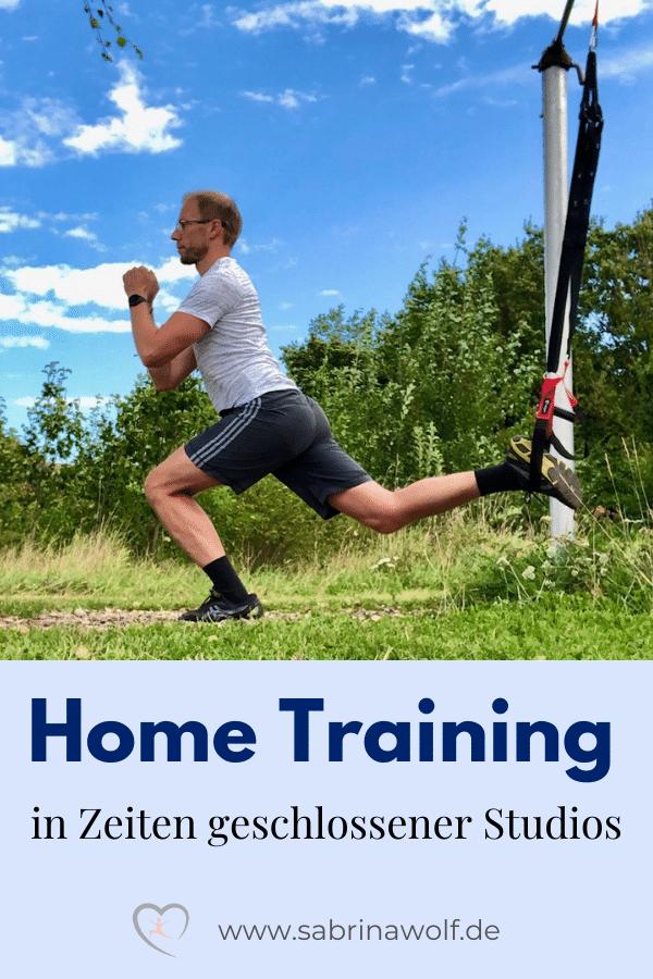 Home Training in Zeiten geschlossener Studios - Pinterest Grafik